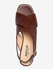 ANGULUS - Sandals - Block heels - sandalen met hak - 1837 brown - 3