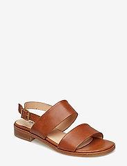 ANGULUS - Sandals - flat - flache sandalen - 1789 tan - 0