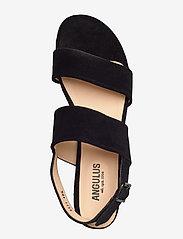 ANGULUS - Sandals - flat - sandalen mit absatz - 1163 black - 3