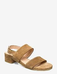 ANGULUS - Sandals - flat - højhælede sandaler - 2210 camel - 0
