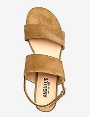 ANGULUS - Sandals - flat - højhælede sandaler - 2210 camel - 3