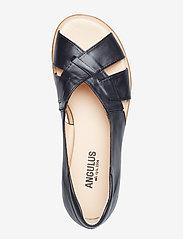 ANGULUS - Sandals - flat - open toe - op - platta sandaler - 1604/001 black/black - 3