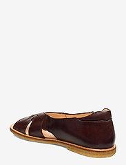 ANGULUS - Sandals - flat - open toe - op - platta sandaler - 1836/002 dark brown/dark brown - 2