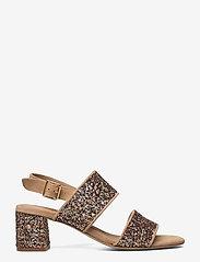 ANGULUS - Sandals - Block heels - sandalen mit absatz - 1149/2488 sand/multi glitter - 1