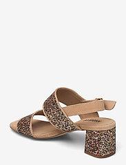 ANGULUS - Sandals - Block heels - sandalen mit absatz - 1149/2488 sand/multi glitter - 2