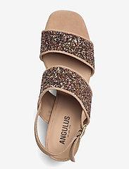ANGULUS - Sandals - Block heels - sandalen mit absatz - 1149/2488 sand/multi glitter - 3