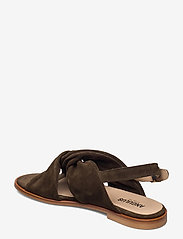 ANGULUS - Sandals - flat - open toe - op - flache sandalen - 2214 dark olive - 2