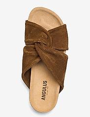 ANGULUS - Sandals - flat - open toe - op - flache sandalen - 2209 mustard - 3