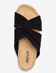 ANGULUS - Sandals - flat - open toe - op - flache sandalen - 1163 black - 3