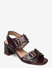 ANGULUS - Sandals - Block heels - sandalen mit absatz - 1836 dark brown - 0