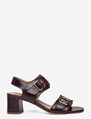ANGULUS - Sandals - Block heels - sandalen mit absatz - 1836 dark brown - 1