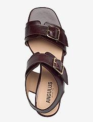 ANGULUS - Sandals - Block heels - sandalen mit absatz - 1836 dark brown - 3