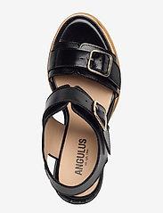 ANGULUS - Sandals - wedge - wedges - 1835 black - 3