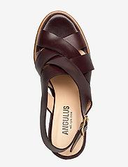 ANGULUS - Sandals - wedge - wedges - 1836 dark brown - 3