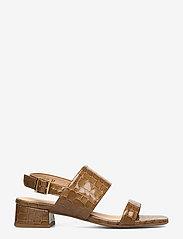ANGULUS - Sandals - Block heels - høyhælte sandaler - 1671 tan krokodille - 1