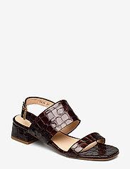 ANGULUS - Sandals - Block heels - sandalen met hak - 1672 brown croco - 0