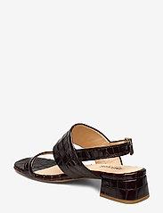 ANGULUS - Sandals - Block heels - sandalen met hak - 1672 brown croco - 2