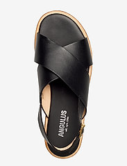 ANGULUS - Sandals - flat - open toe - op - flache sandalen - 1785 black - 3