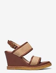 ANGULUS - Sandals - wedge - sandalen mit absatz - 1548/2670 cognac/sand - 1