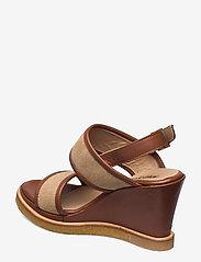 ANGULUS - Sandals - wedge - sandalen mit absatz - 1548/2670 cognac/sand - 2