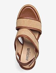 ANGULUS - Sandals - wedge - sandalen mit absatz - 1548/2670 cognac/sand - 3