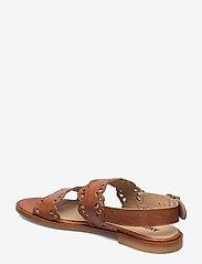ANGULUS - Sandals - flat - open toe - op - flache sandalen - 1789 tan - 2