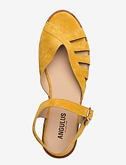 ANGULUS - Sandals - flat - open toe - op - flache sandalen - 2201 yellow - 3