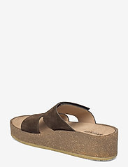 ANGULUS - Sandals - flat - open toe - op - sandalen mit absatz - 2214 dark olive - 2