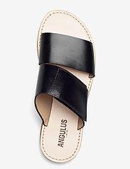 ANGULUS - Sandals - flat - open toe - op - flache sandalen - 1835 black - 3