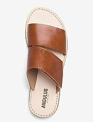 ANGULUS - Sandals - flat - open toe - op - flache sandalen - 1838 cognac - 3