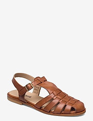ANGULUS - Sandals - flat - closed toe - op - flache sandalen - 1789 tan - 0