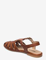 ANGULUS - Sandals - flat - closed toe - op - flache sandalen - 1789 tan - 2