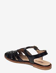 ANGULUS - Sandals - flat - closed toe - op - flache sandalen - 1835 black - 2