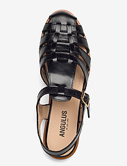 ANGULUS - Sandals - flat - closed toe - op - flache sandalen - 1835 black - 3