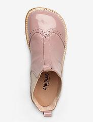 ANGULUS - Booties - flat - with elastic - stövlar & kängor - 1387/010 patent powder/beige - 3