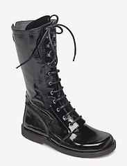 ANGULUS - Long boot with laces. - lange laarzen - 1310 black - 0
