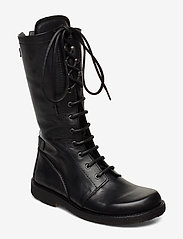 ANGULUS - Long boot with laces. - langskaftede - 1604 black - 0