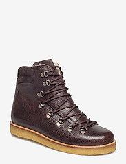 ANGULUS - Boots - flat - with laces - platte enkellaarsjes - 2505/2193 d.brown/d.brown - 0
