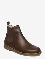 Booties - flat - with elastic - 2509/040 MEDIUM BROWN/ COGNAC