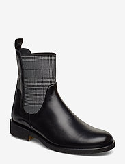 ANGULUS - 7317 - platta ankelboots - 1835/044 black/checked - 0