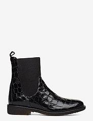 ANGULUS - 7317 - flade ankelstøvler - 1674/019 black croco/ black - 1