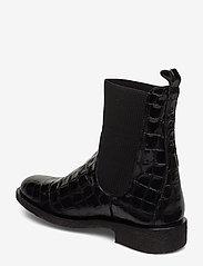 ANGULUS - 7317 - flade ankelstøvler - 1674/019 black croco/ black - 2