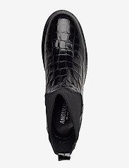 ANGULUS - 7317 - flade ankelstøvler - 1674/019 black croco/ black - 3