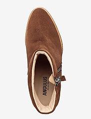 ANGULUS - Boots - wedge - bottes d'hiver - 1166 cognac - 3