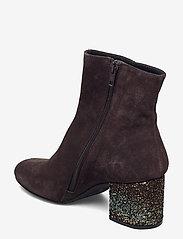 ANGULUS - Bootie - block heel - with zippe - stiefeletten mit absatz - 2193/2487 brown/copper glit - 2