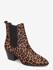ANGULUS - Booties - Block heel - with elas - stiefeletten mit absatz - 1110/019 leopard/elastic - 0