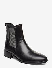 ANGULUS - Booties - flat - with elastic - chelsea støvler - 1835/044 black/checked - 0