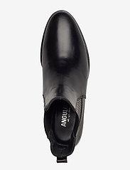 ANGULUS - Booties - flat - with elastic - chelsea støvler - 1835/044 black/checked - 3