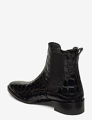ANGULUS - Booties - flat - with elastic - chelsea støvler - 1674/019 black croco/ black - 2