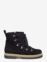 ANGULUS - Boots - flat - with laces - flat ankle boots - 1163/2014 black/black lamb woo - 1